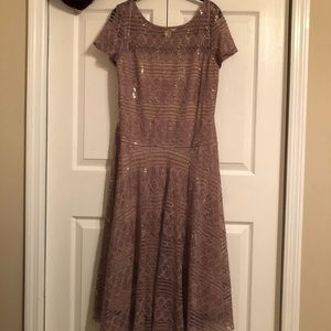 *Sale* Sangria gold lace and sequined dress